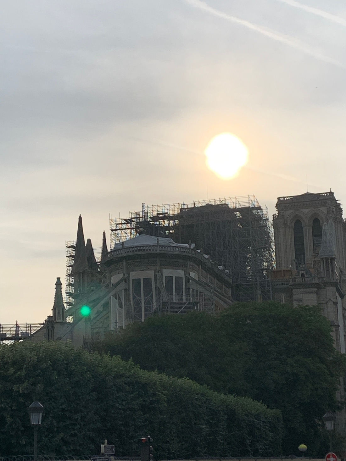 Picture of Notre Dame reconstruction