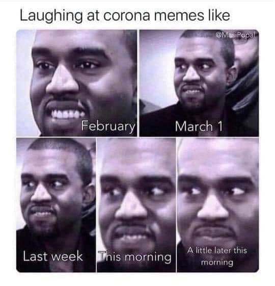 kanye laughing at corona