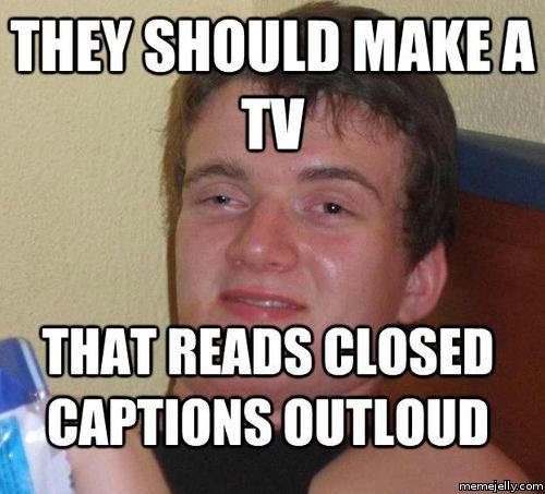 closed caption meme